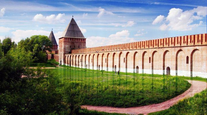 смоленская крепостная стена открытка запись сделана уже